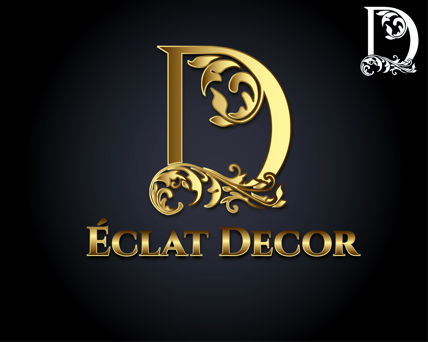 Logo Design by VENTSISLAV KOVACHEV - Entry No. 3 in the Logo Design Contest Imaginative Logo Design for Éclat Decor.