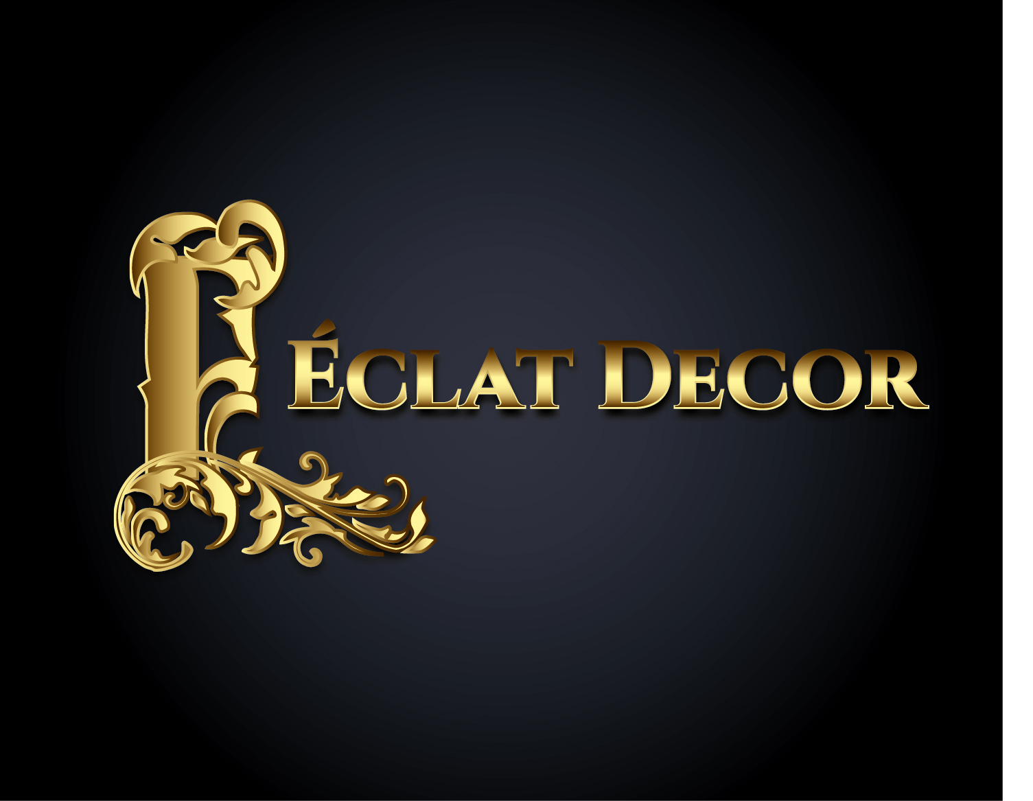 Logo Design by VENTSISLAV KOVACHEV - Entry No. 4 in the Logo Design Contest Imaginative Logo Design for Éclat Decor.