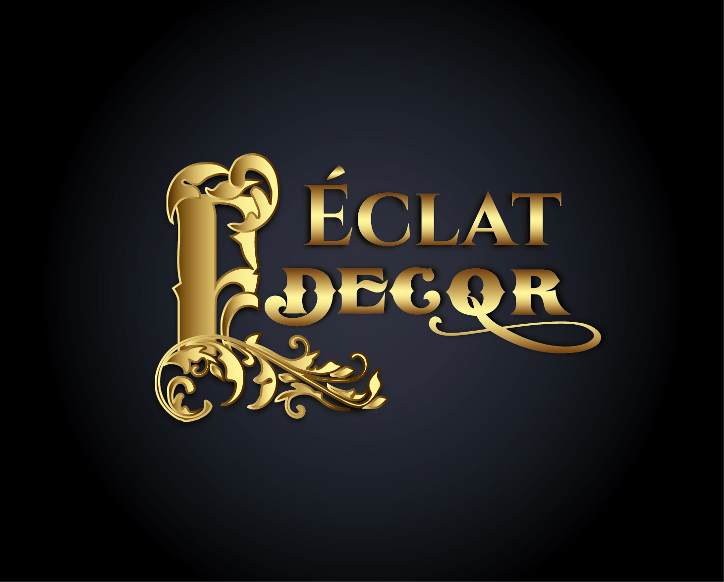 Logo Design by VENTSISLAV KOVACHEV - Entry No. 7 in the Logo Design Contest Imaginative Logo Design for Éclat Decor.