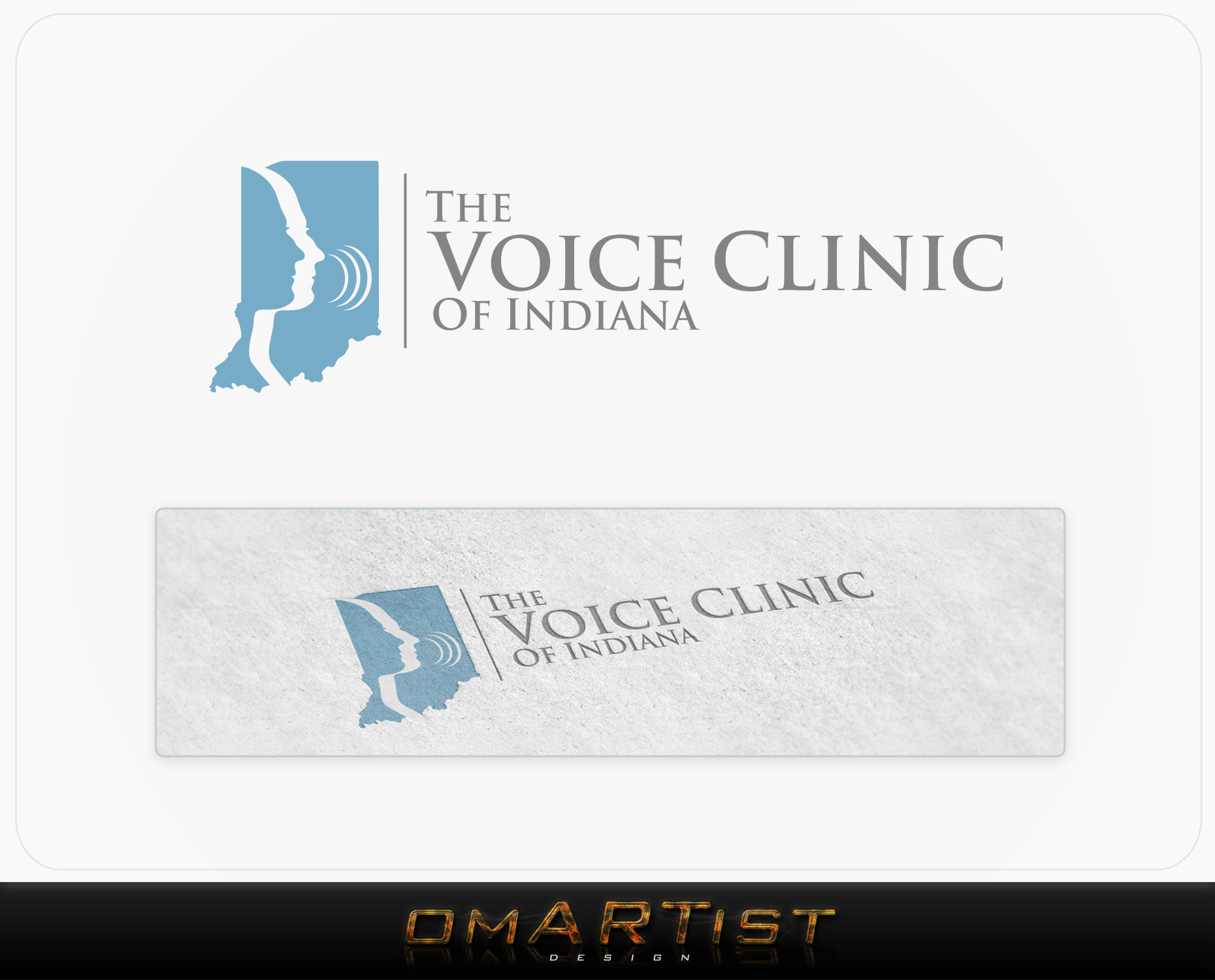 Logo Design by omARTist - Entry No. 2 in the Logo Design Contest Logo Design for The Voice Clinic of Indiana.