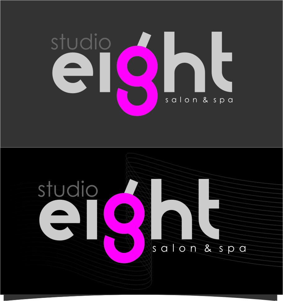 Logo Design by RasYa Muhammad Athaya - Entry No. 169 in the Logo Design Contest Captivating Logo Design for studio eight salon & spa.