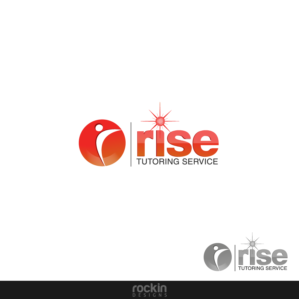 Logo Design by rockin - Entry No. 44 in the Logo Design Contest Imaginative Logo Design for Rise Tutoring Service.