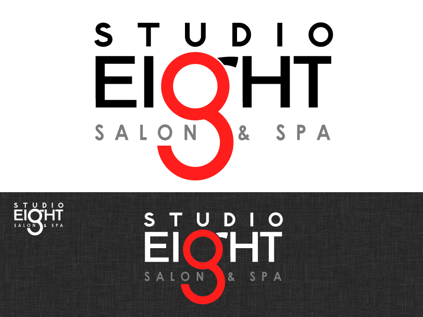 Logo Design by Richard Soriano - Entry No. 171 in the Logo Design Contest Captivating Logo Design for studio eight salon & spa.