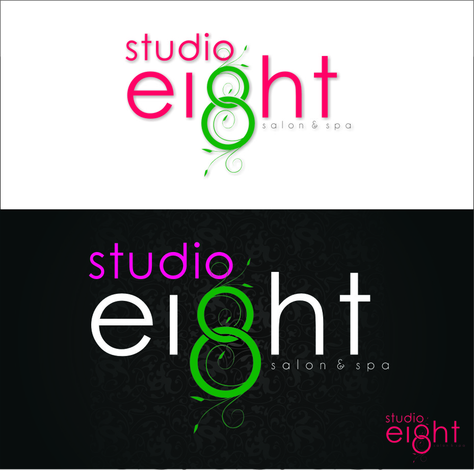 Logo Design by Ngepet_art - Entry No. 176 in the Logo Design Contest Captivating Logo Design for studio eight salon & spa.