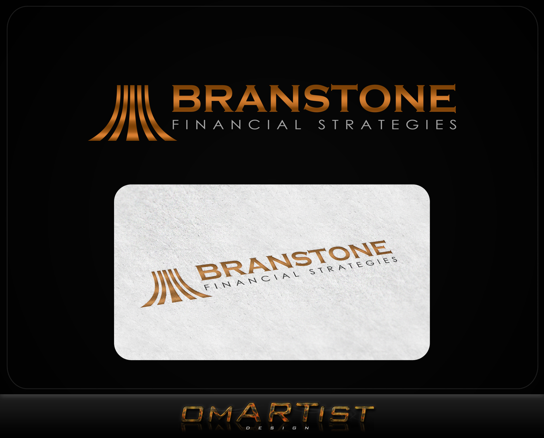 Logo Design by omARTist - Entry No. 196 in the Logo Design Contest Inspiring Logo Design for Branstone Financial Strategies.