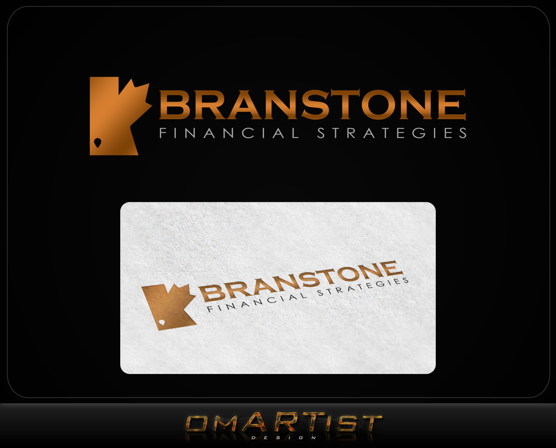 Logo Design by omARTist - Entry No. 198 in the Logo Design Contest Inspiring Logo Design for Branstone Financial Strategies.