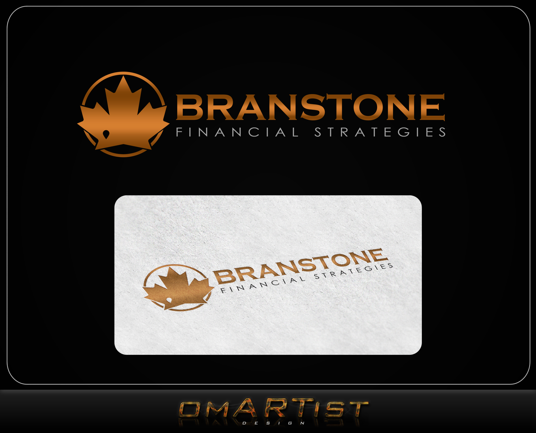 Logo Design by omARTist - Entry No. 199 in the Logo Design Contest Inspiring Logo Design for Branstone Financial Strategies.
