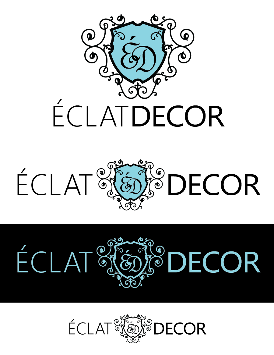 Logo Design by Christina Evans - Entry No. 15 in the Logo Design Contest Imaginative Logo Design for Éclat Decor.