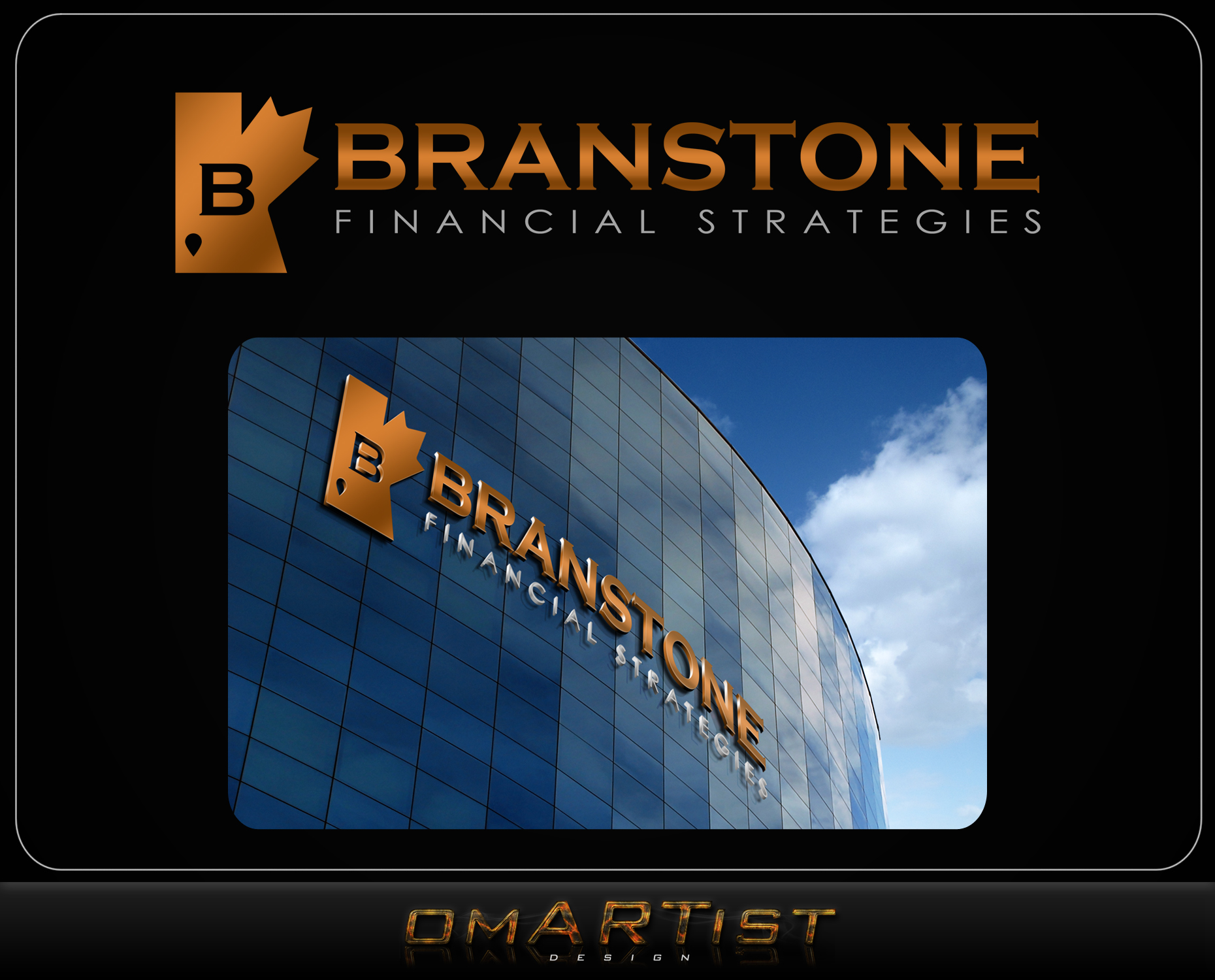 Logo Design by omARTist - Entry No. 203 in the Logo Design Contest Inspiring Logo Design for Branstone Financial Strategies.