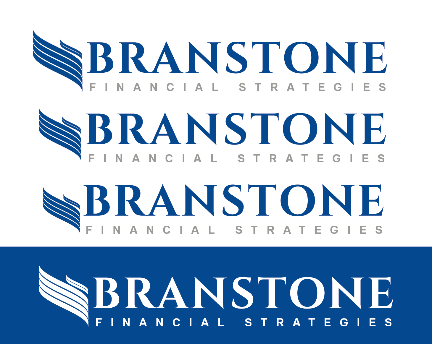 Logo Design by VENTSISLAV KOVACHEV - Entry No. 215 in the Logo Design Contest Inspiring Logo Design for Branstone Financial Strategies.