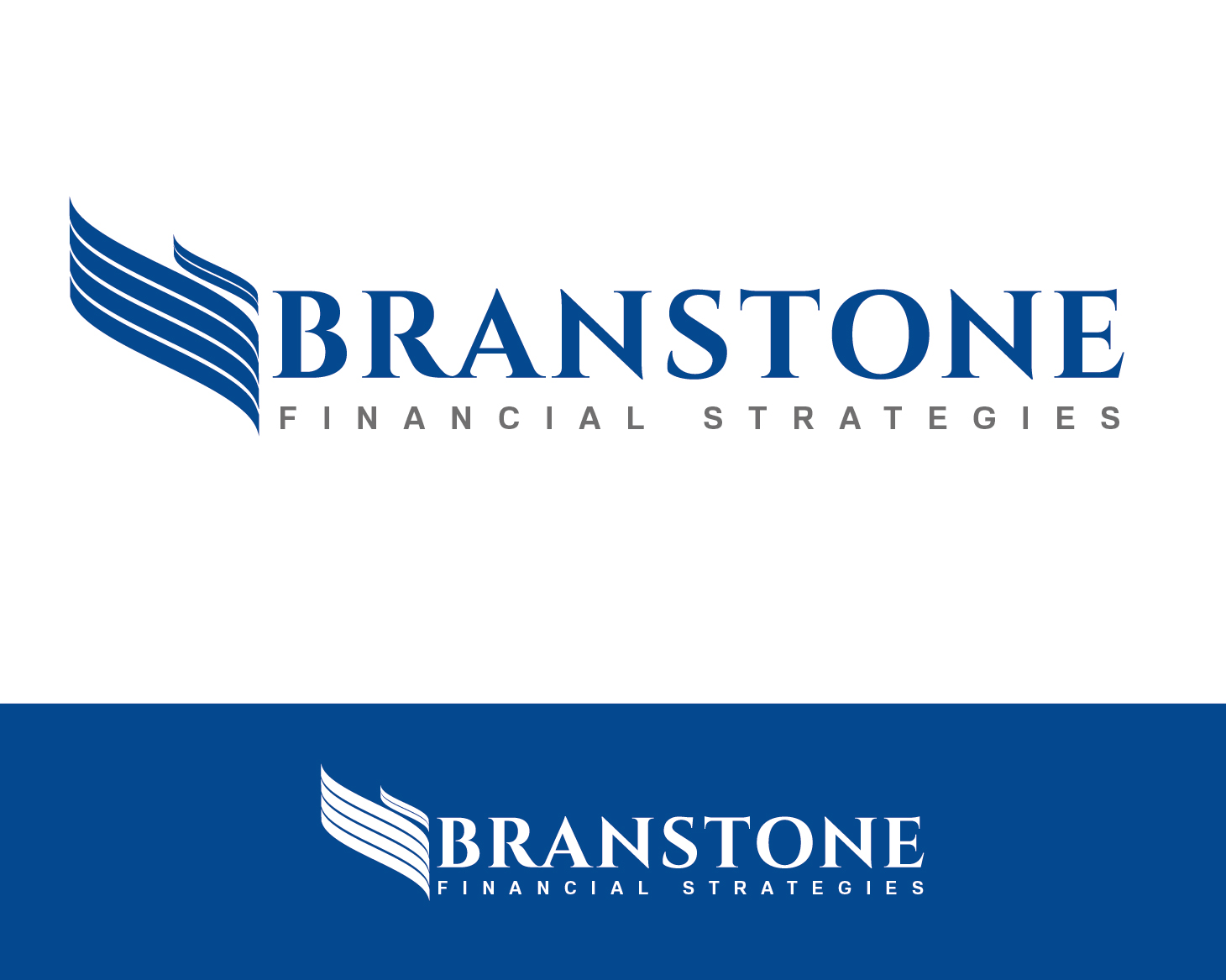 Logo Design by VENTSISLAV KOVACHEV - Entry No. 225 in the Logo Design Contest Inspiring Logo Design for Branstone Financial Strategies.