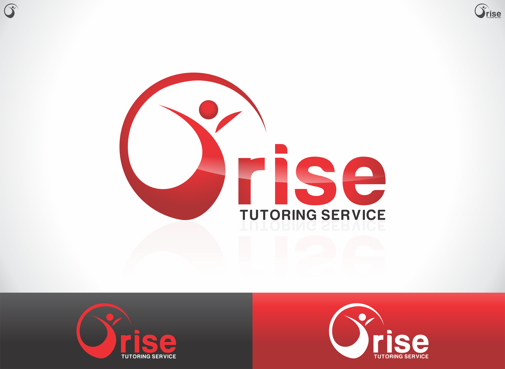 Logo Design by dandor - Entry No. 57 in the Logo Design Contest Imaginative Logo Design for Rise Tutoring Service.