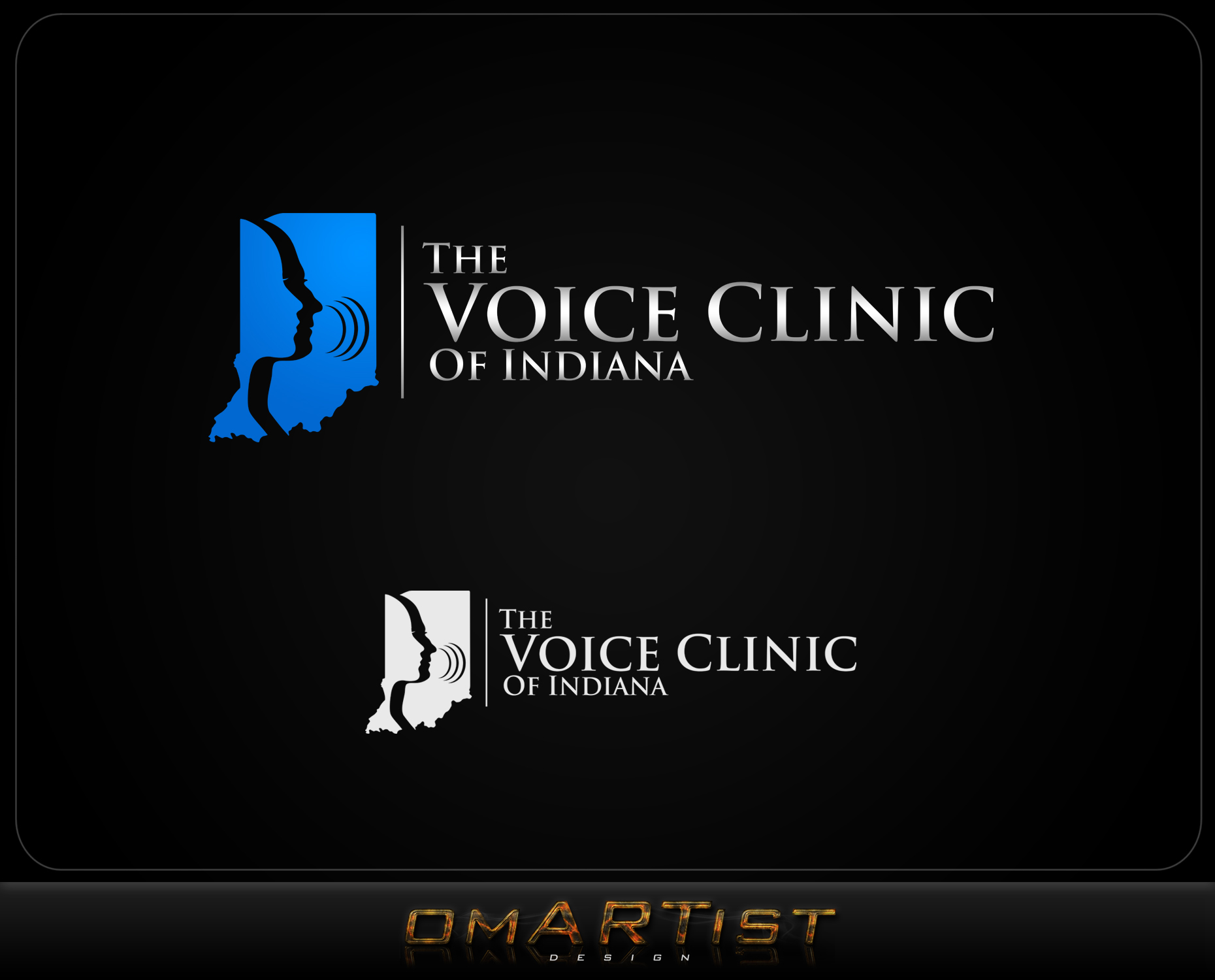Logo Design by omARTist - Entry No. 4 in the Logo Design Contest Logo Design for The Voice Clinic of Indiana.