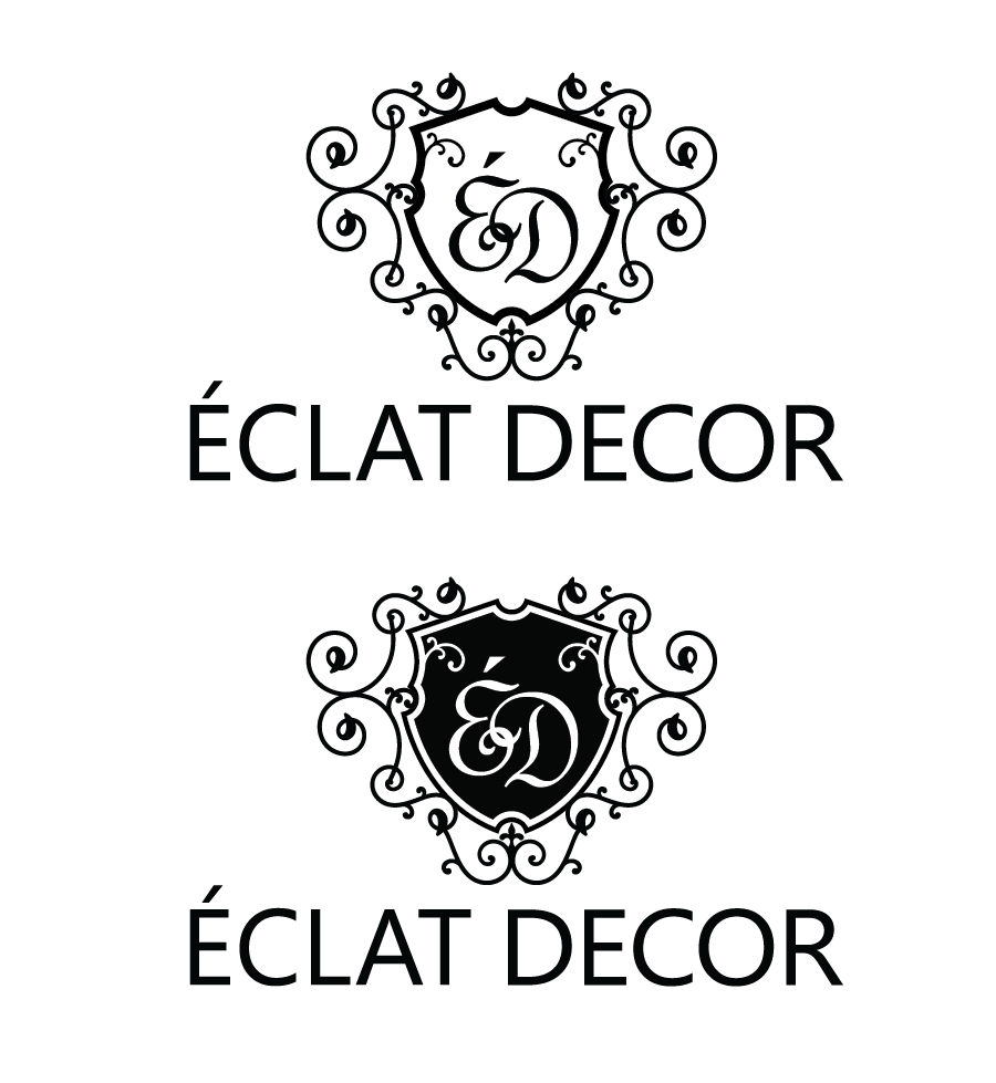 Logo Design by Christina Evans - Entry No. 20 in the Logo Design Contest Imaginative Logo Design for Éclat Decor.