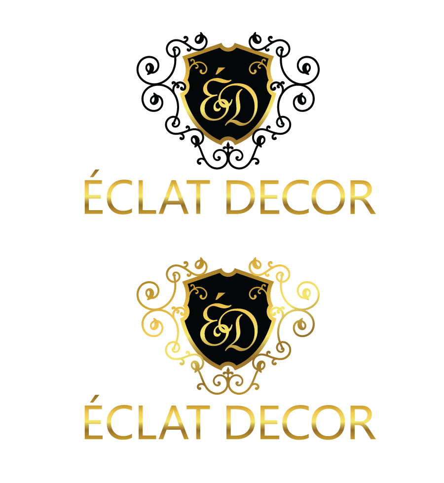 Logo Design by Christina Evans - Entry No. 21 in the Logo Design Contest Imaginative Logo Design for Éclat Decor.
