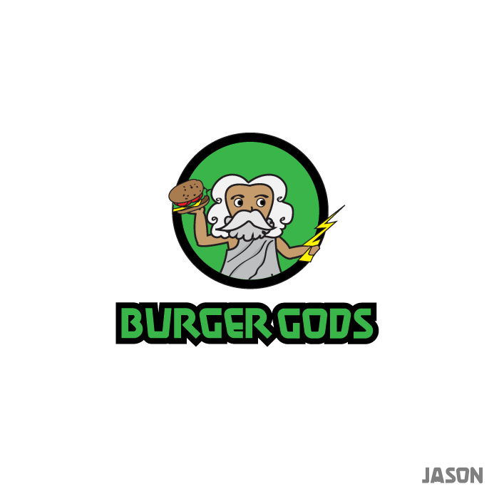 Logo Design by zesthar - Entry No. 1 in the Logo Design Contest Inspiring Logo Design for Burger Gods.