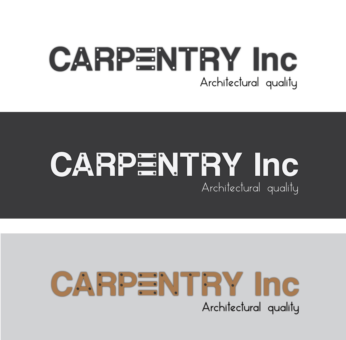 Logo Design by Private User - Entry No. 42 in the Logo Design Contest Creative Logo Design for Carpentry inc..
