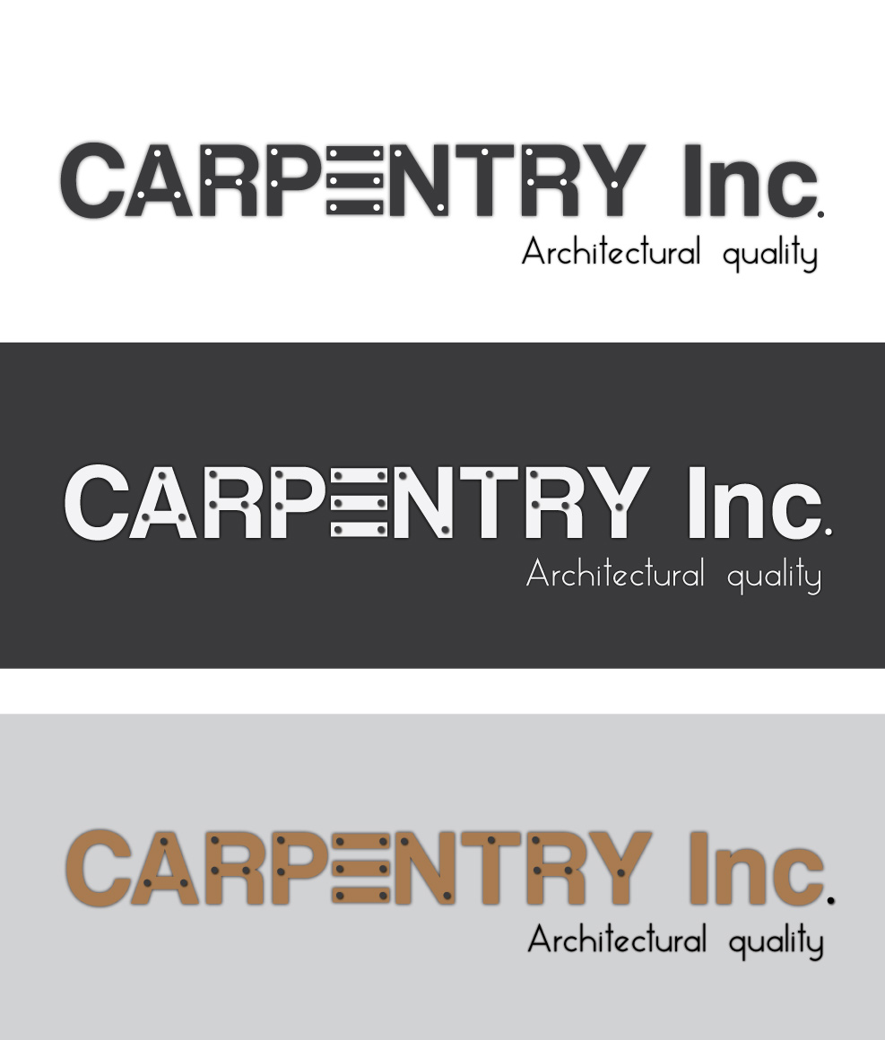 Logo Design by Private User - Entry No. 43 in the Logo Design Contest Creative Logo Design for Carpentry inc..