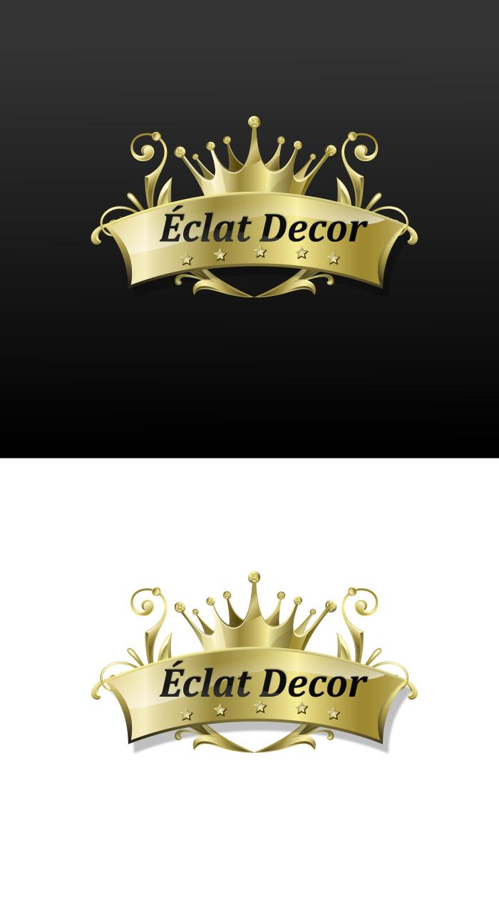 Logo Design by Private User - Entry No. 23 in the Logo Design Contest Imaginative Logo Design for Éclat Decor.