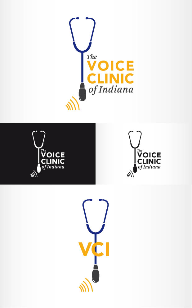 Logo Design by Andrés González - Entry No. 9 in the Logo Design Contest Logo Design for The Voice Clinic of Indiana.