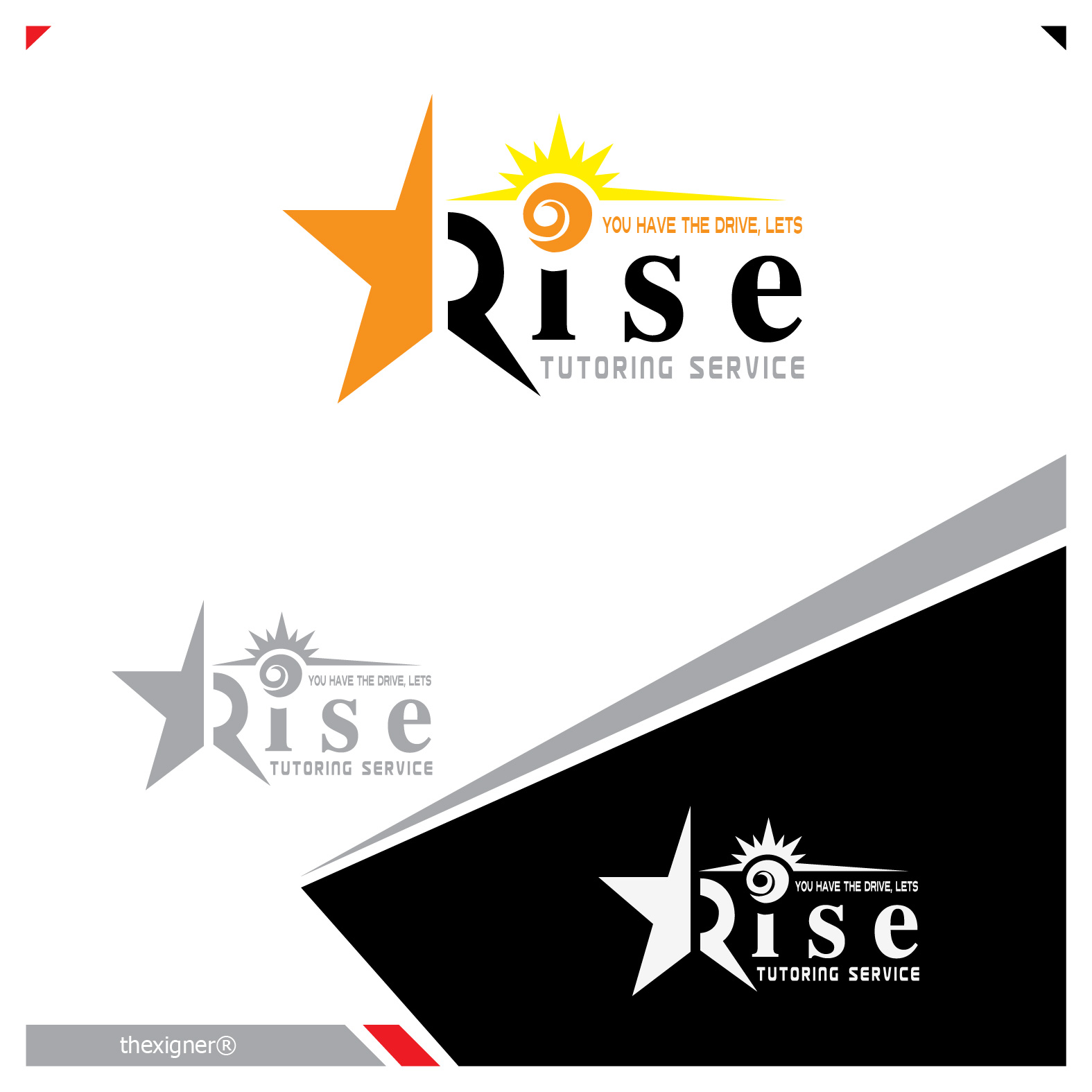 Logo Design by lagalag - Entry No. 90 in the Logo Design Contest Imaginative Logo Design for Rise Tutoring Service.