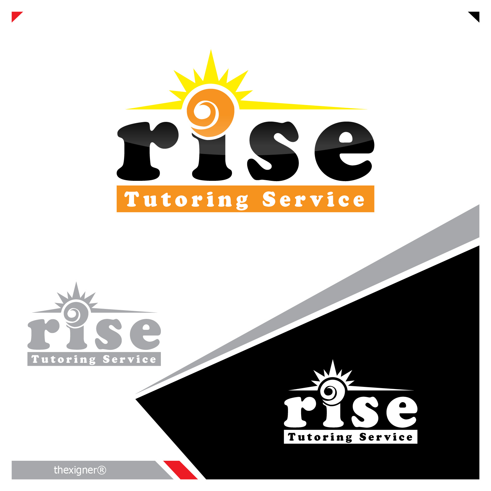 Logo Design by lagalag - Entry No. 92 in the Logo Design Contest Imaginative Logo Design for Rise Tutoring Service.