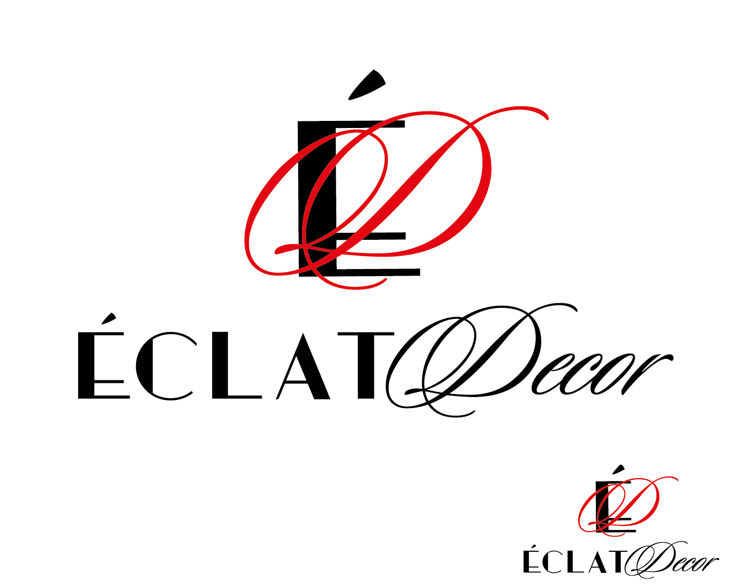 Logo Design by VENTSISLAV KOVACHEV - Entry No. 29 in the Logo Design Contest Imaginative Logo Design for Éclat Decor.