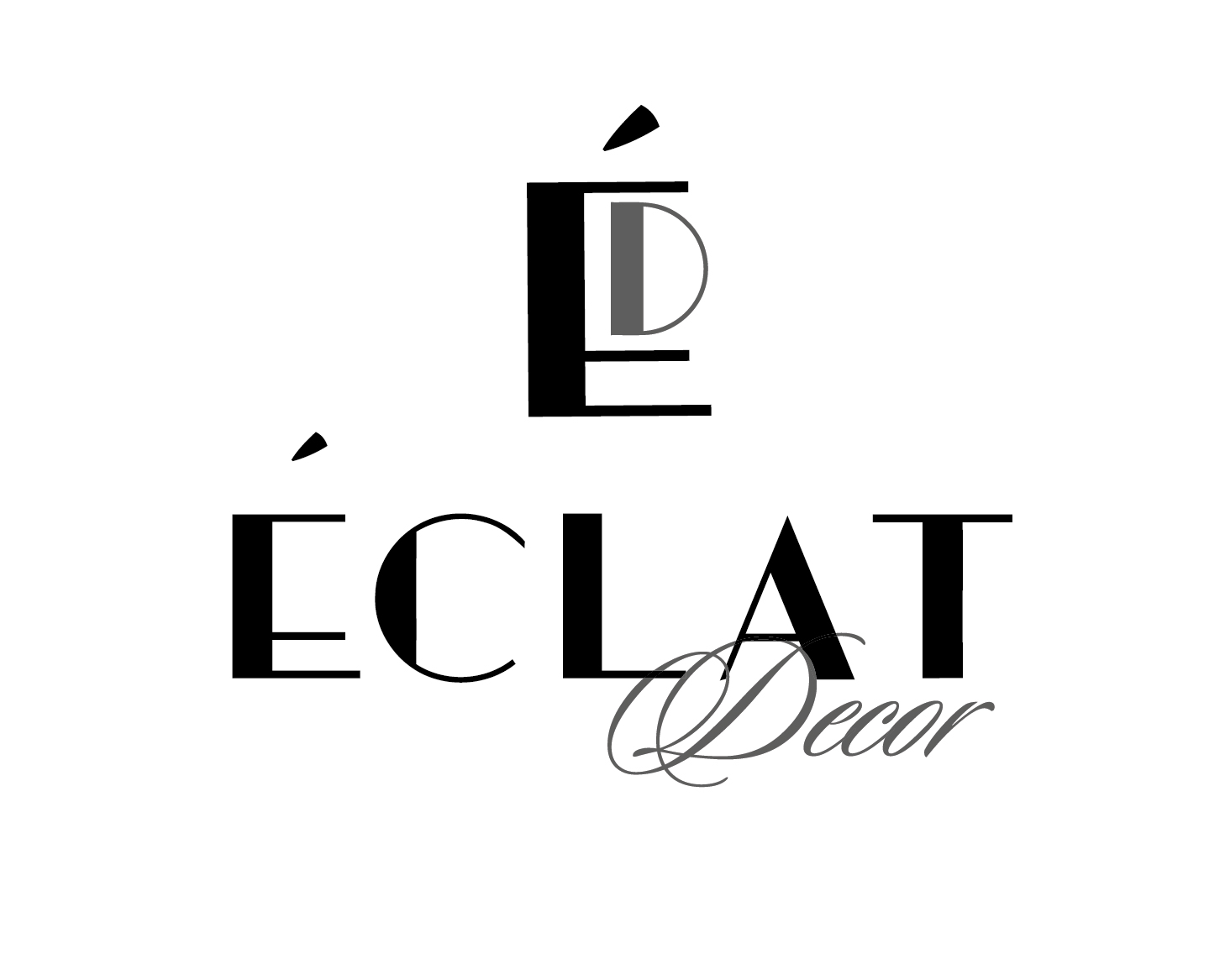 Logo Design by VENTSISLAV KOVACHEV - Entry No. 30 in the Logo Design Contest Imaginative Logo Design for Éclat Decor.