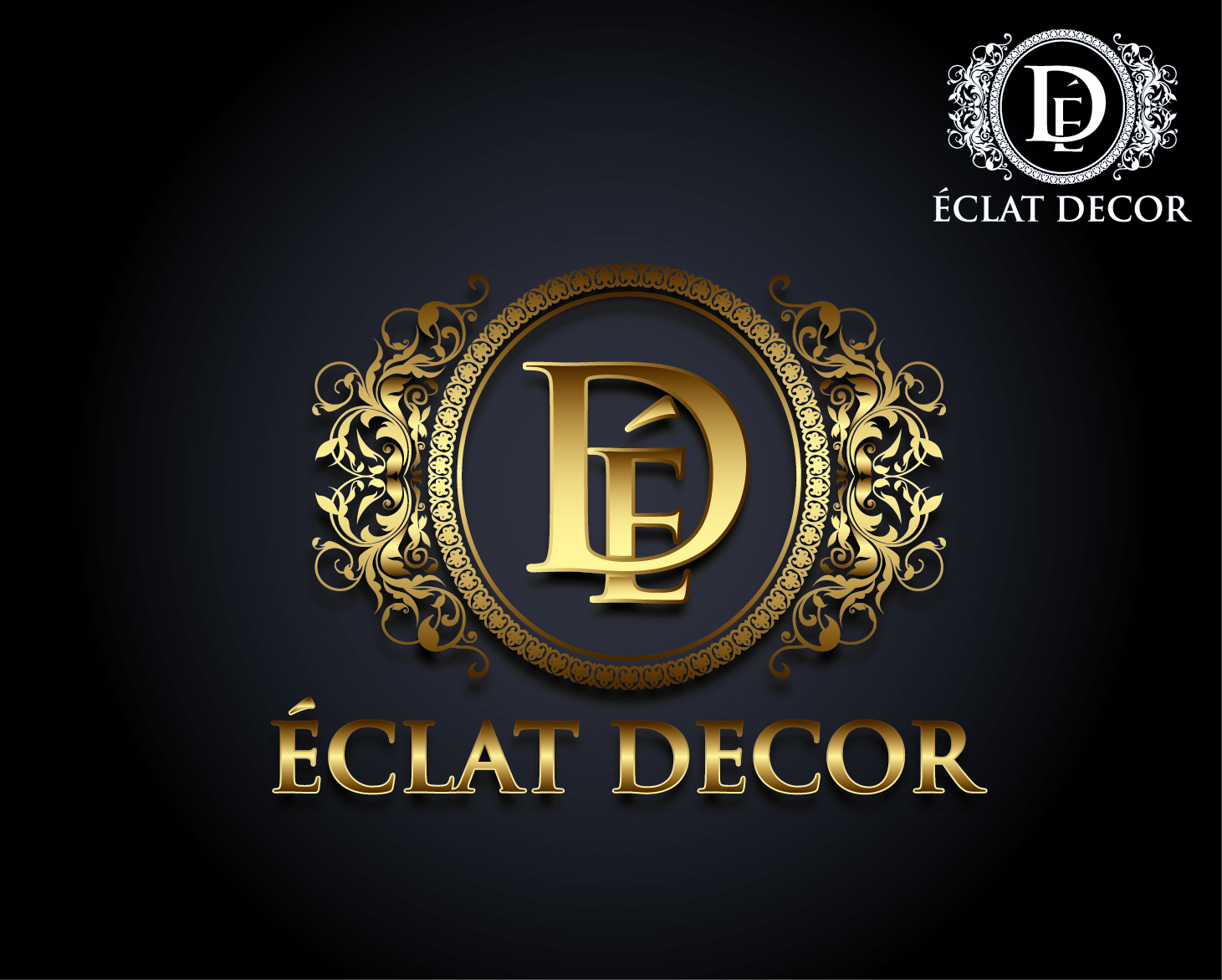 Logo Design by VENTSISLAV KOVACHEV - Entry No. 31 in the Logo Design Contest Imaginative Logo Design for Éclat Decor.