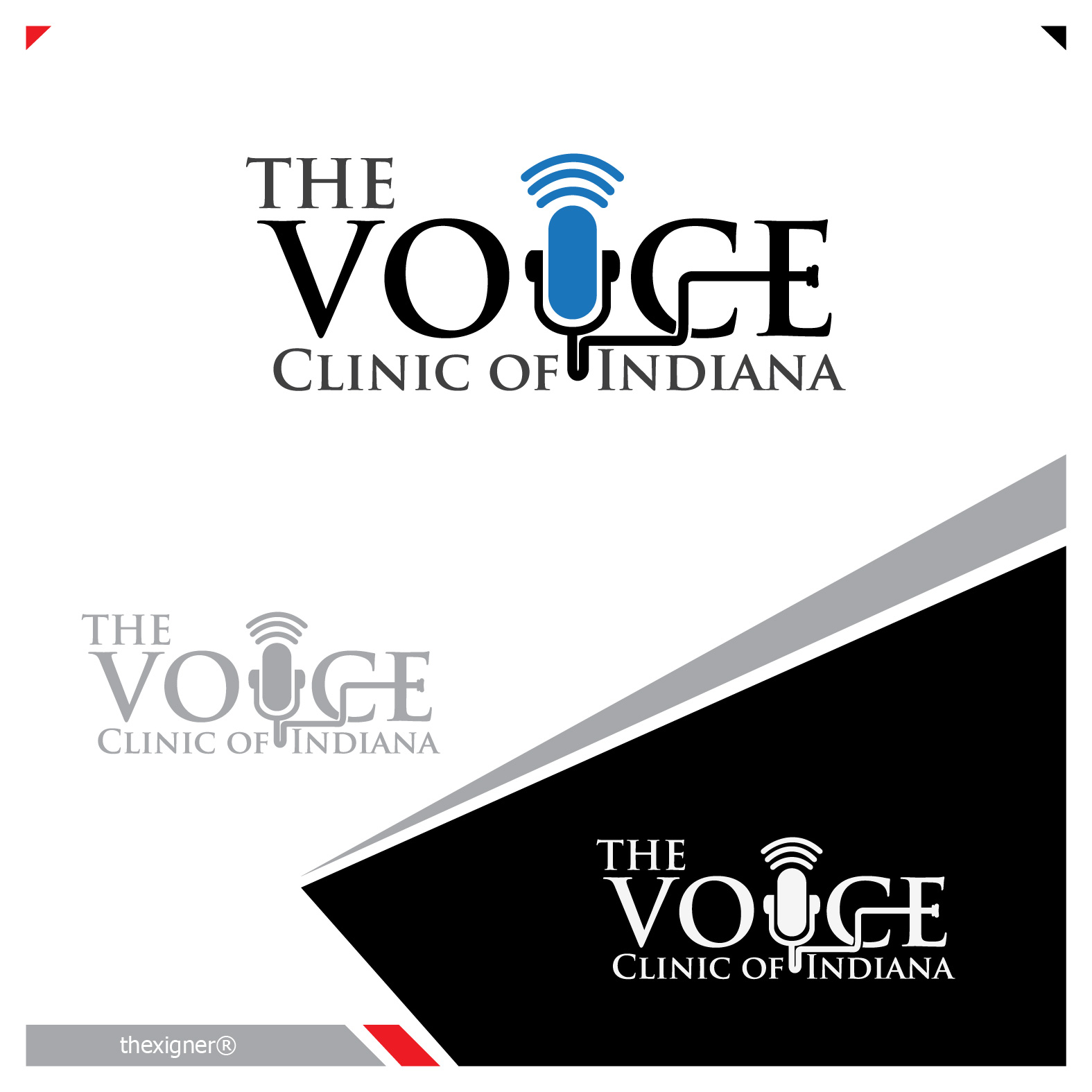 Logo Design by lagalag - Entry No. 15 in the Logo Design Contest Logo Design for The Voice Clinic of Indiana.
