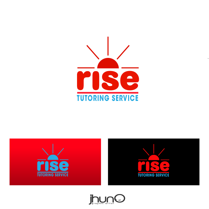Logo Design by zesthar - Entry No. 99 in the Logo Design Contest Imaginative Logo Design for Rise Tutoring Service.