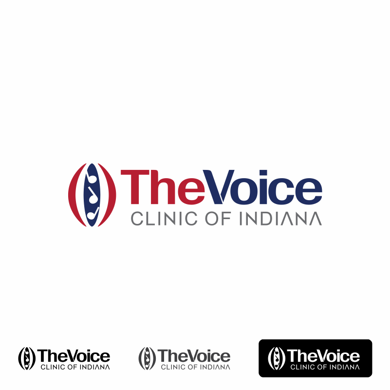 Logo Design by moisesf - Entry No. 17 in the Logo Design Contest Logo Design for The Voice Clinic of Indiana.