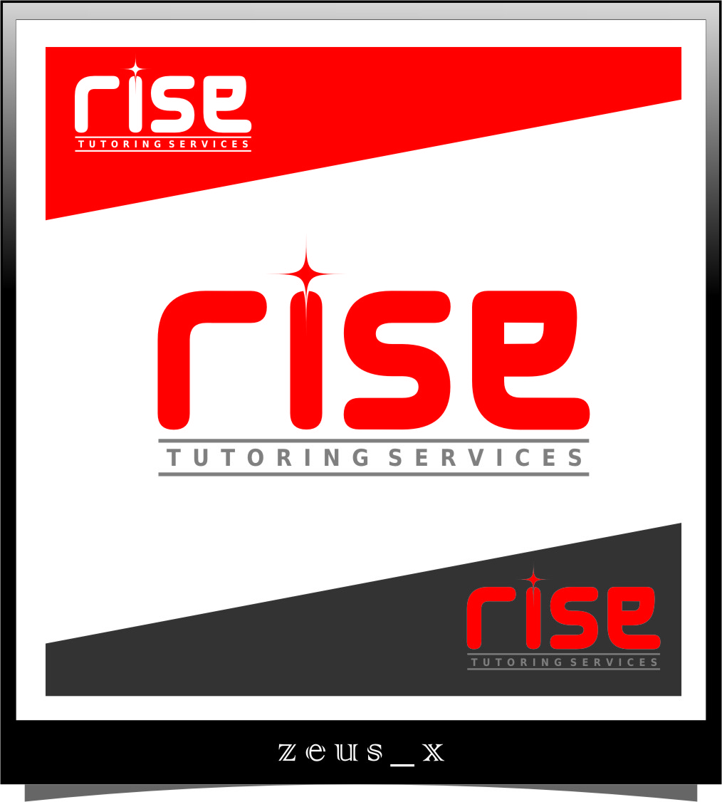 Logo Design by Ngepet_art - Entry No. 105 in the Logo Design Contest Imaginative Logo Design for Rise Tutoring Service.