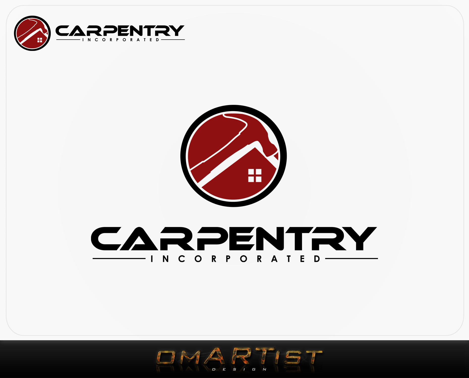 Logo Design by omARTist - Entry No. 88 in the Logo Design Contest Creative Logo Design for Carpentry inc..