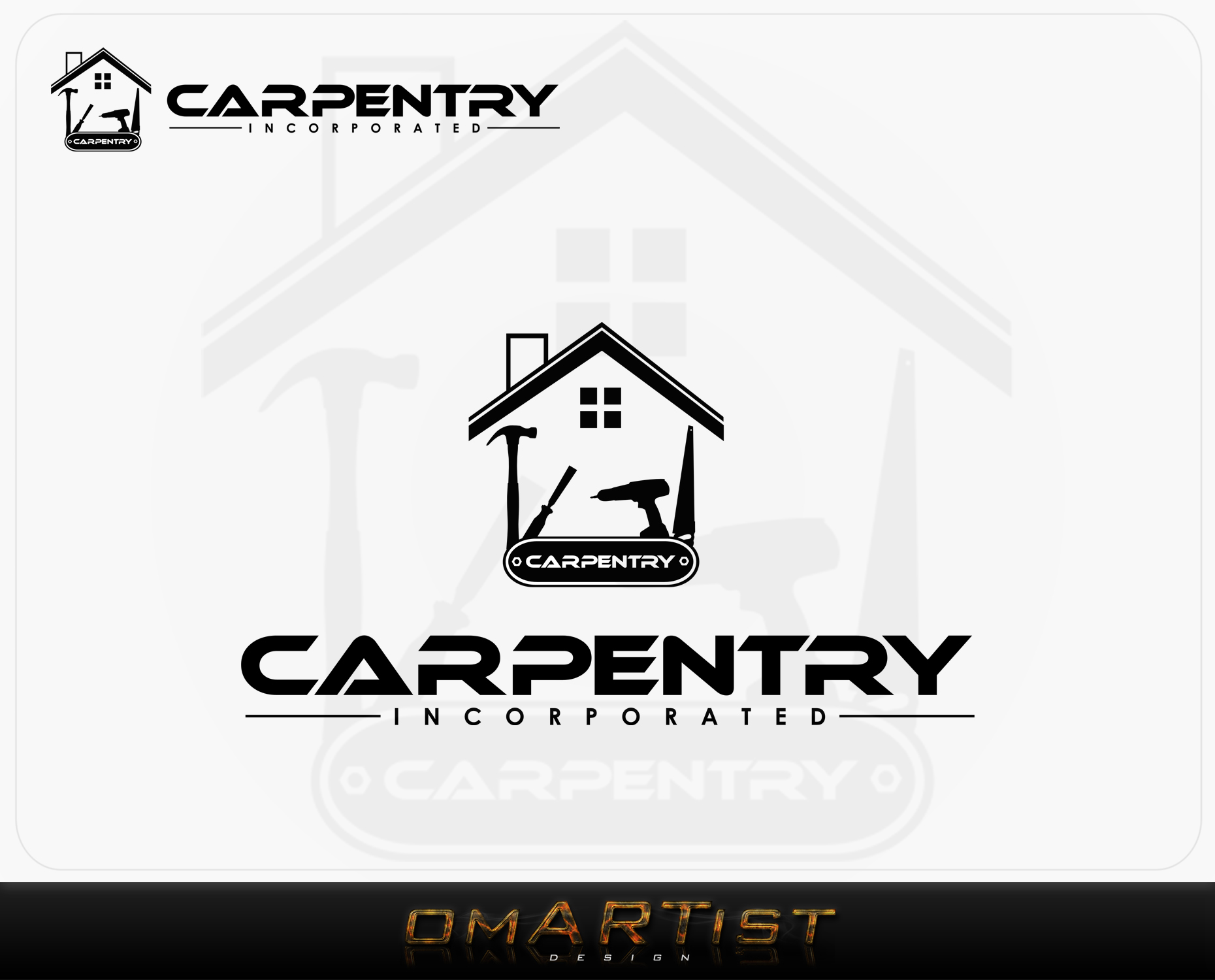 Logo Design by omARTist - Entry No. 96 in the Logo Design Contest Creative Logo Design for Carpentry inc..