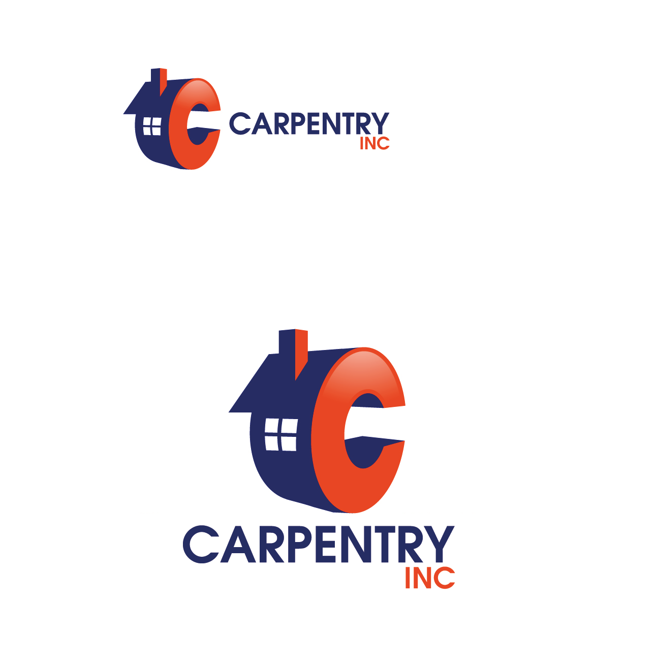 Logo Design by Private User - Entry No. 106 in the Logo Design Contest Creative Logo Design for Carpentry inc..