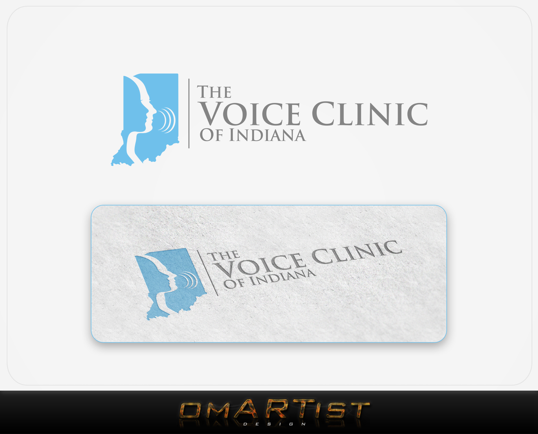 Logo Design by omARTist - Entry No. 18 in the Logo Design Contest Logo Design for The Voice Clinic of Indiana.