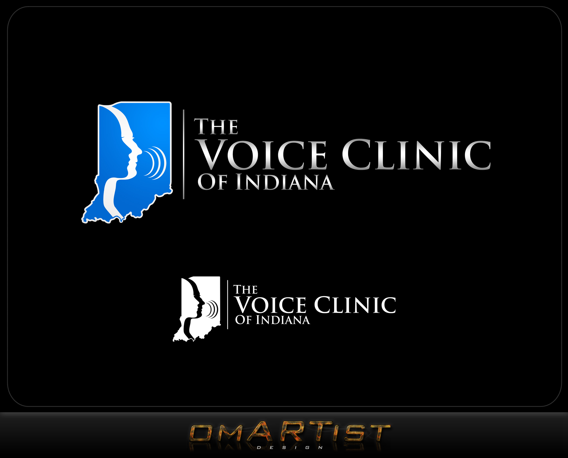 Logo Design by omARTist - Entry No. 19 in the Logo Design Contest Logo Design for The Voice Clinic of Indiana.