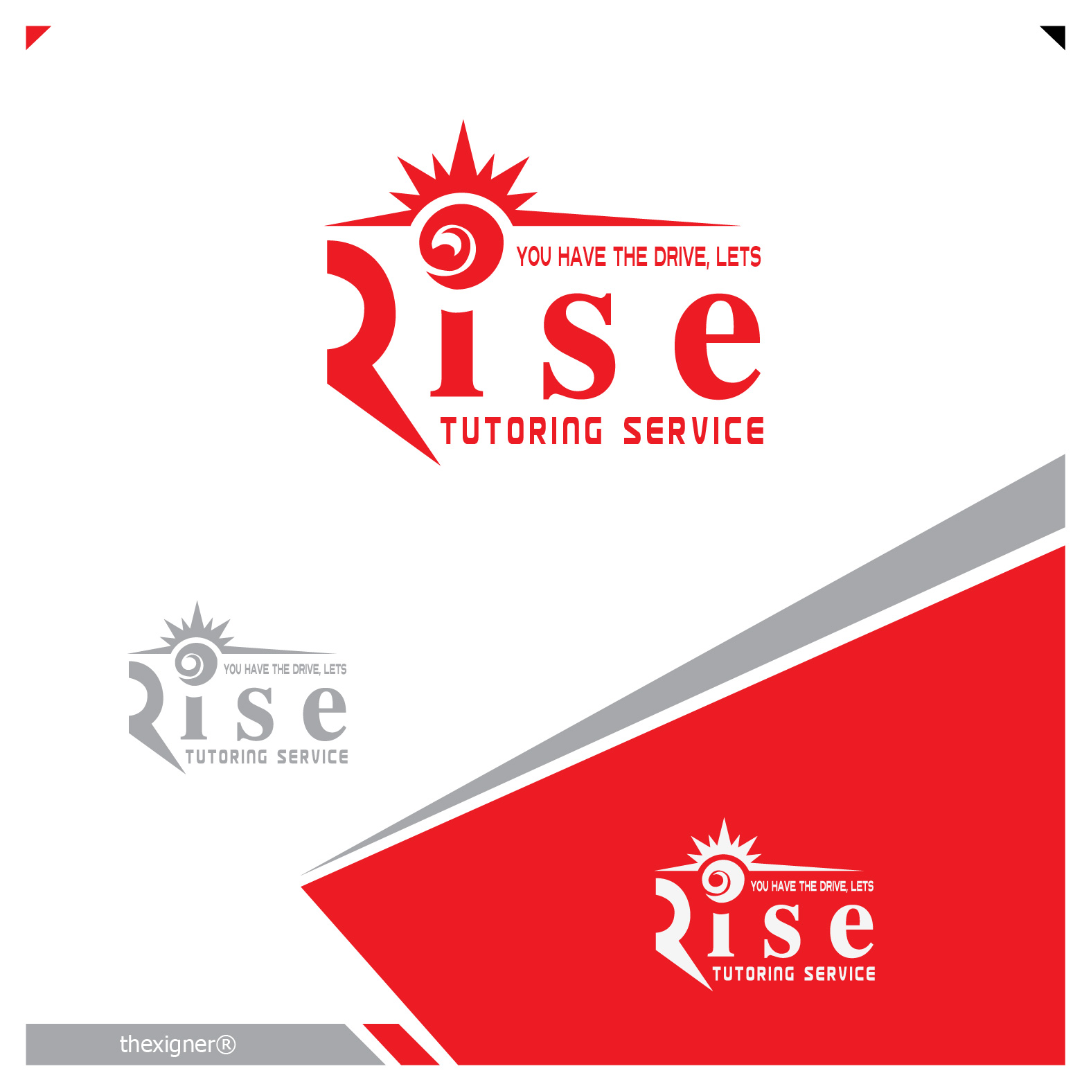 Logo Design by lagalag - Entry No. 118 in the Logo Design Contest Imaginative Logo Design for Rise Tutoring Service.
