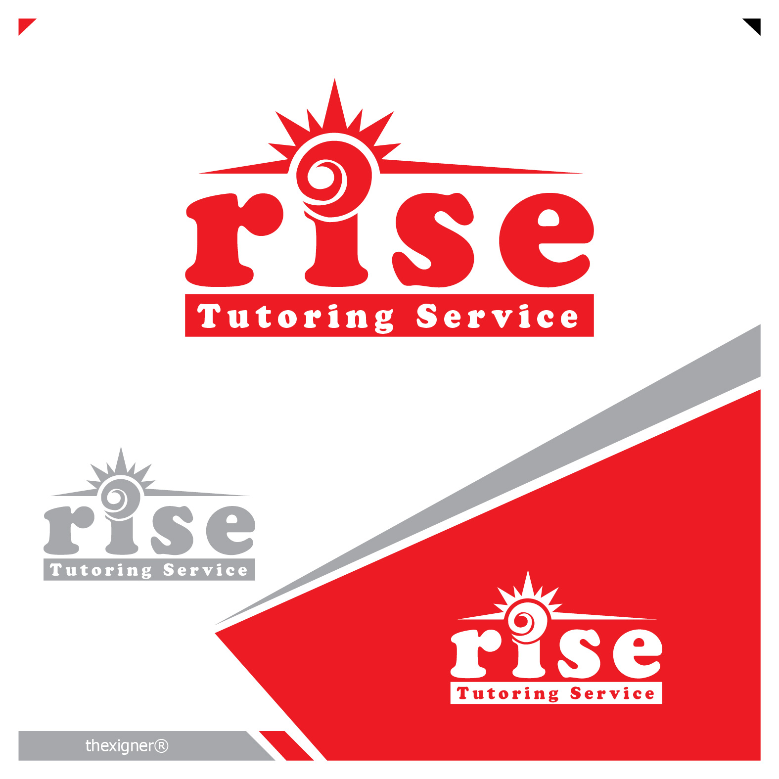 Logo Design by lagalag - Entry No. 119 in the Logo Design Contest Imaginative Logo Design for Rise Tutoring Service.