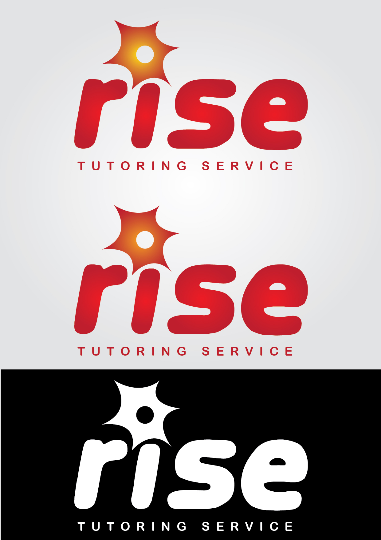 Logo Design by mediaproductionart - Entry No. 127 in the Logo Design Contest Imaginative Logo Design for Rise Tutoring Service.