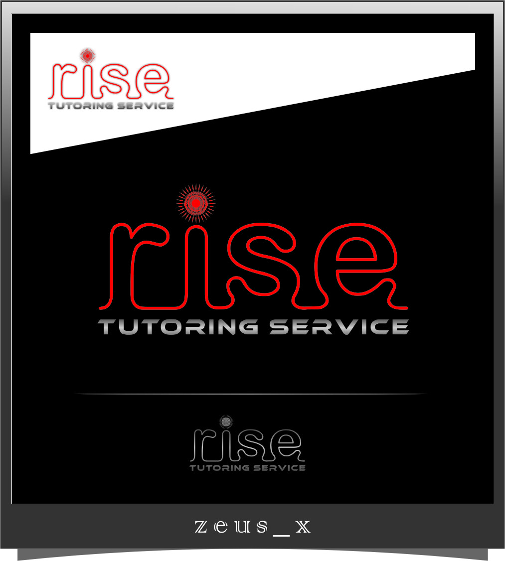 Logo Design by Ngepet_art - Entry No. 129 in the Logo Design Contest Imaginative Logo Design for Rise Tutoring Service.