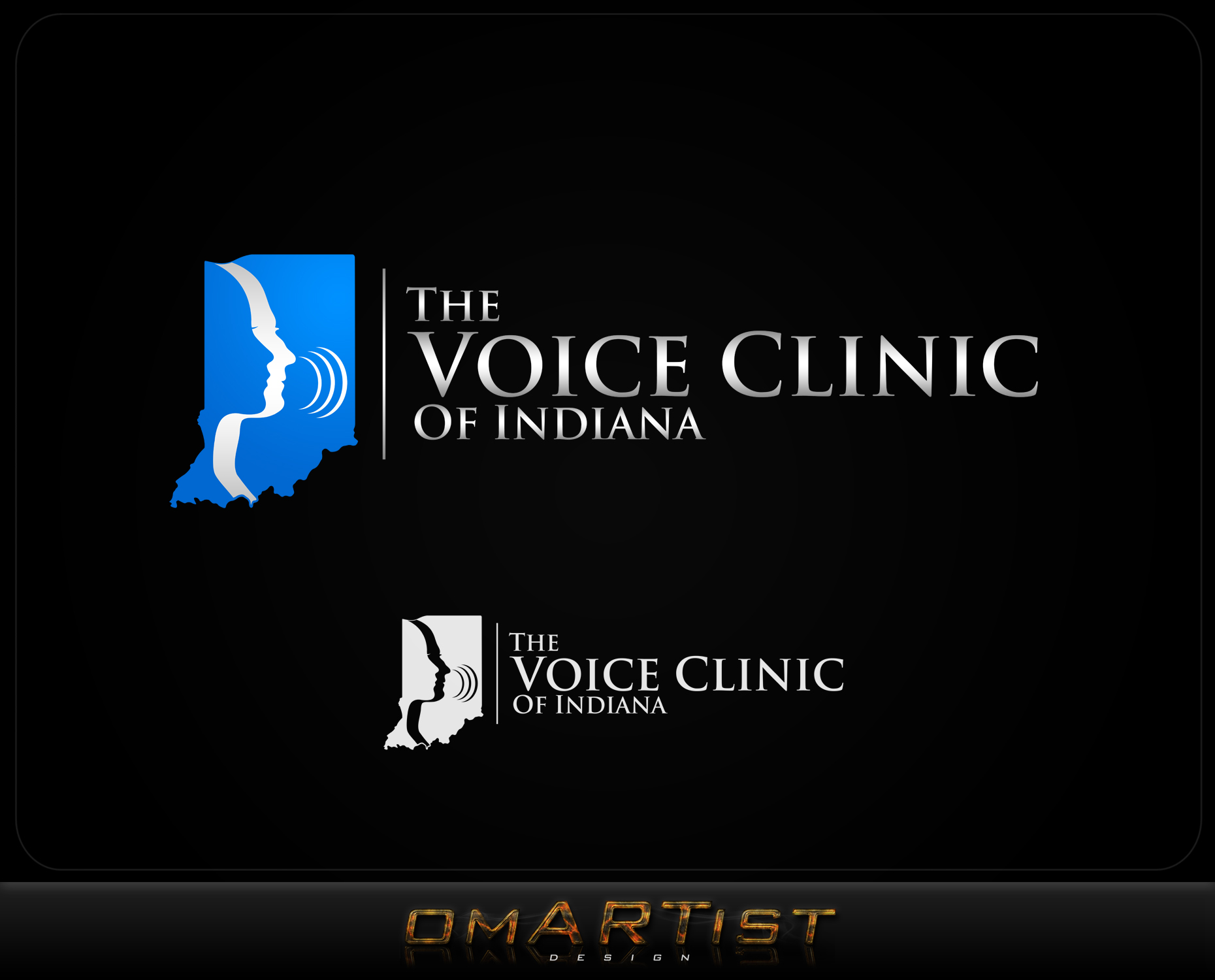 Logo Design by omARTist - Entry No. 29 in the Logo Design Contest Logo Design for The Voice Clinic of Indiana.