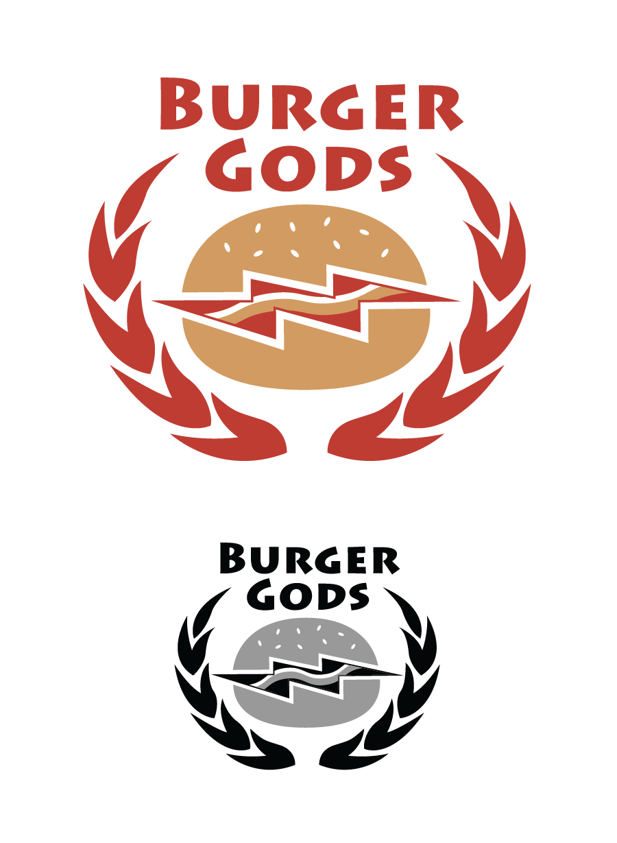 Logo Design by Christina Evans - Entry No. 4 in the Logo Design Contest Inspiring Logo Design for Burger Gods.