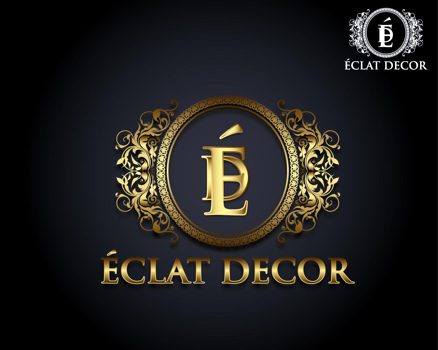 Logo Design by VENTSISLAV KOVACHEV - Entry No. 41 in the Logo Design Contest Imaginative Logo Design for Éclat Decor.