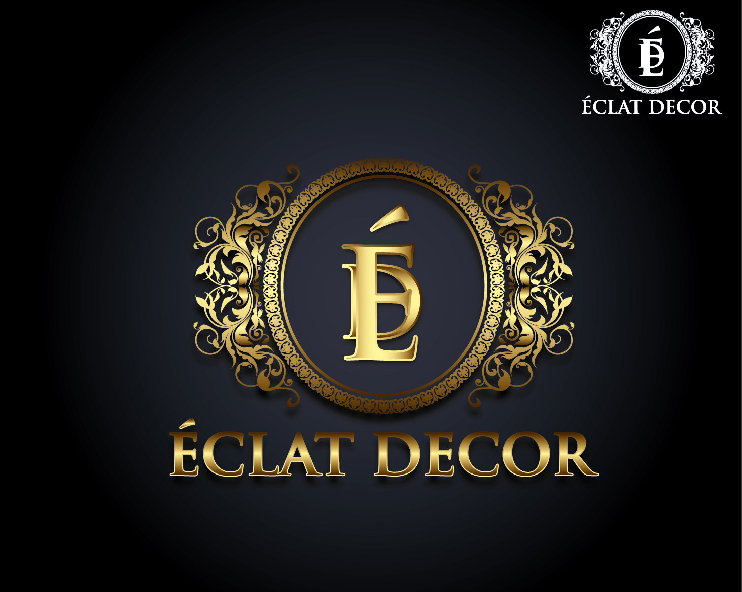 Logo Design by VENTSISLAV KOVACHEV - Entry No. 42 in the Logo Design Contest Imaginative Logo Design for Éclat Decor.