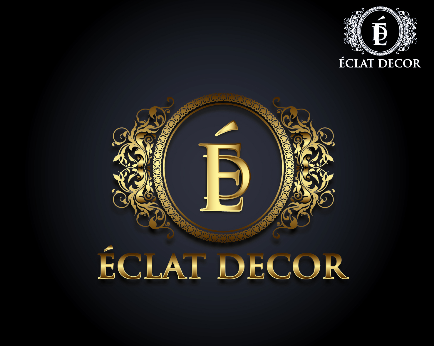 Logo Design by VENTSISLAV KOVACHEV - Entry No. 43 in the Logo Design Contest Imaginative Logo Design for Éclat Decor.