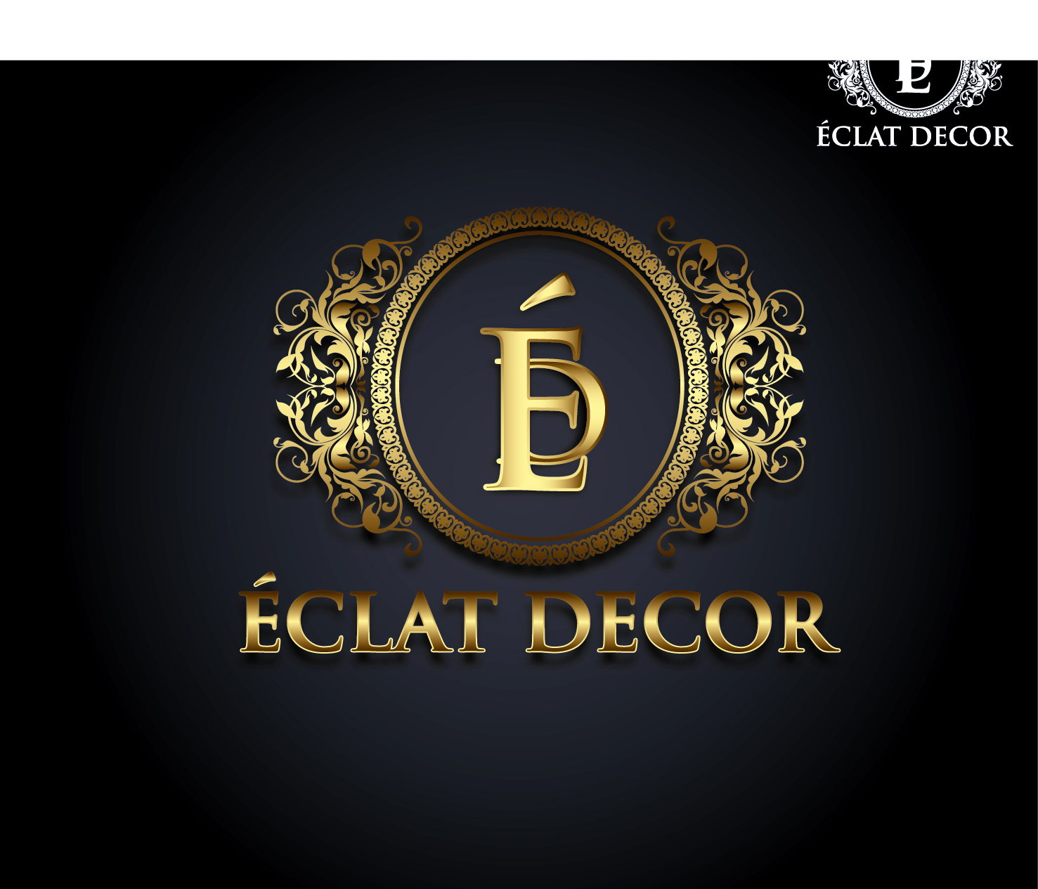 Logo Design by VENTSISLAV KOVACHEV - Entry No. 44 in the Logo Design Contest Imaginative Logo Design for Éclat Decor.