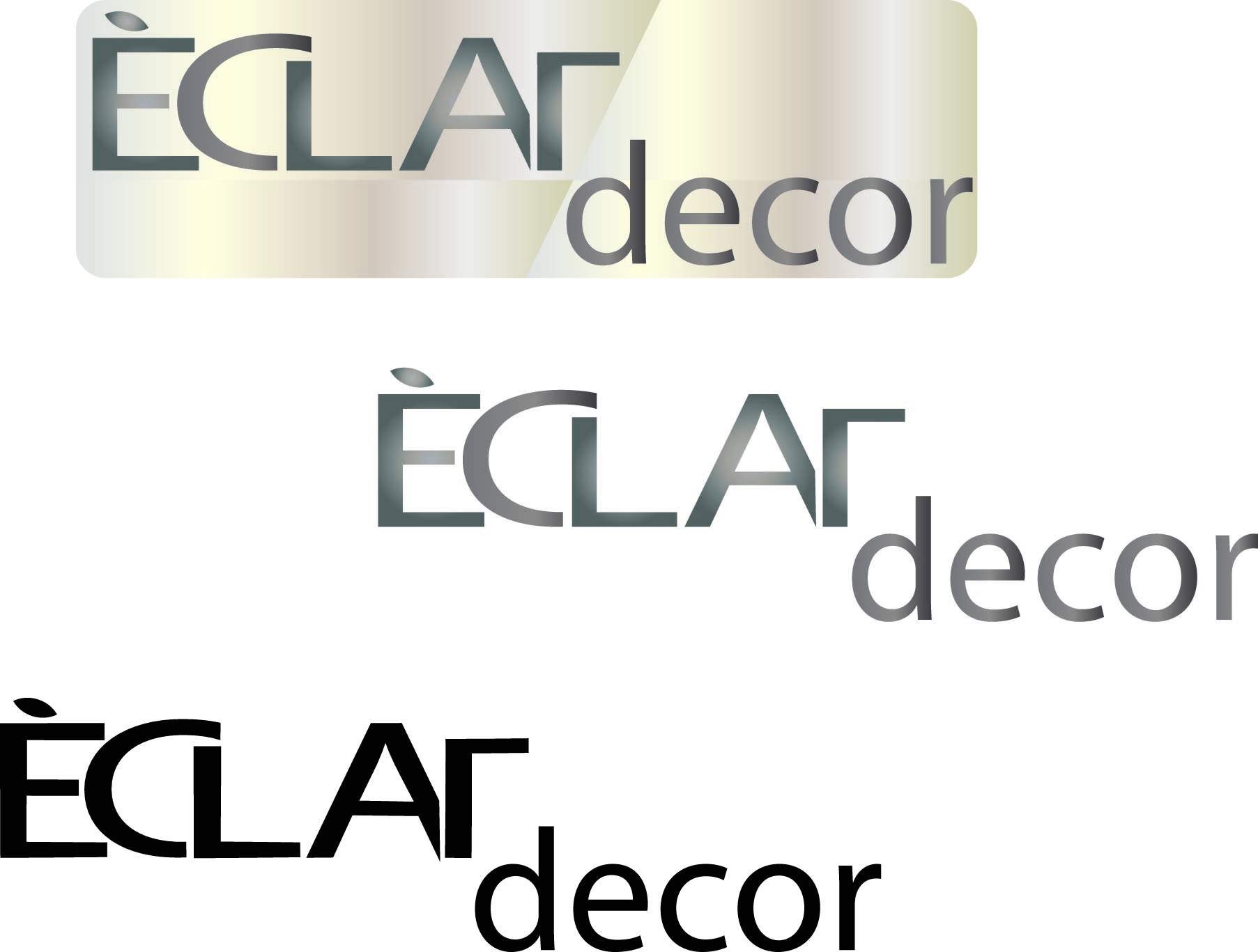 Logo Design by Susan Palmer - Entry No. 45 in the Logo Design Contest Imaginative Logo Design for Éclat Decor.