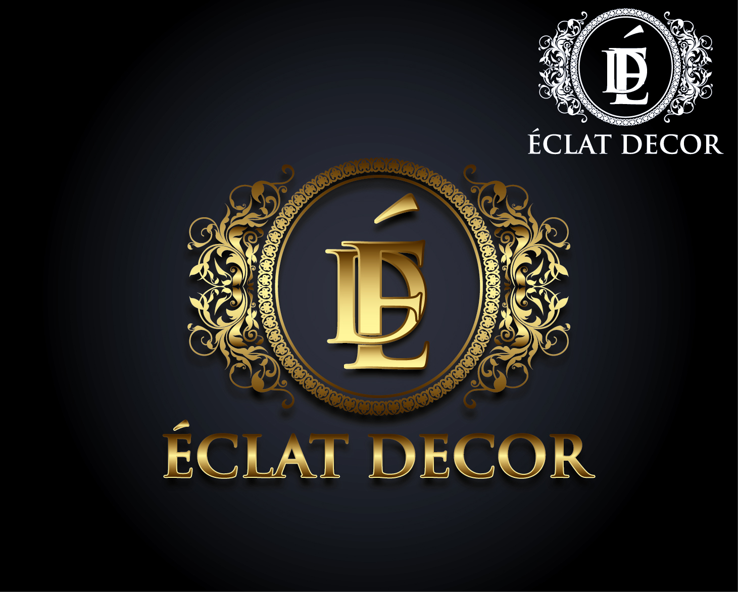 Logo Design by VENTSISLAV KOVACHEV - Entry No. 52 in the Logo Design Contest Imaginative Logo Design for Éclat Decor.